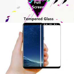 2017 New Galaxy S8 Plus Tempered Glass Film 3D Curved Full Cover Screen Protector for S6 S7 Edge With Retail Package