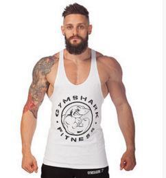Descuento al por mayor de la ingeniería Venta al por mayor- gimnasios de oro ropa de vestir Hombre de fitness Bodybuilding Stringer solteros Gymshark camisa sin mangas Muscle Vest Cotton Body Engineer
