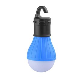 1.5w 2w Wholesale- Portable Lantern Outdoor Hanging LED light 4.5v 3AAA dry battery CampingTent Light Bulb Fishing emmergemcy light 3 LEDs