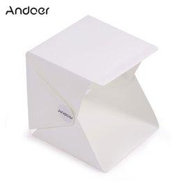 Wholesale Andoer Folding Portable Flash Diffusers Mini Photography Lightbox Studio for iPhone Samsang LG HTC Smartphone Digital or DSLR Camera D3828