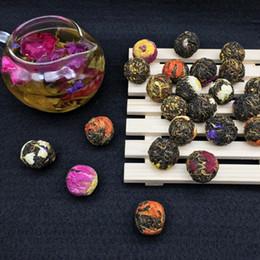 Samples for 50g Dragon Pearl Flower with Black Tea Ball all kinds flavor Yunnan Dian Black Tea Pearl Cheap Price Premium Tea Ball