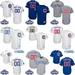 Wholesale 2016 World Series Champions Patch Men s Custom Chicago Cubs Baseball Jersey Flexbase Collection For Sale stitched size S XL