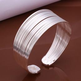 2017 Fashion multiple line bracelets luxury amp bangles for women girls gift silver plated charm bracelet jewelry bijoux new cuff bracelets