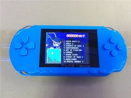 Hot Selling 4 Couleurs PXP3 Slim Station Jeu Pocket Jeu Étudiant 16-Bit Jeux vidéo Player Handheld Game Console + Free Game Card à partir de enfants jeux vidéo fournisseurs