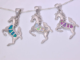 Wholesale & Retail Fashion Jewelry Fine Blue&White&Pink Fire Opal Stone Silver Plated Pendants For Women PJ16011009