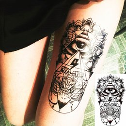 Wholesale Tribal Style Temporary Tattoo Body Art Mysterious Evil Eye Designs Flash Tattoo Sticker Keep days Waterproof cm