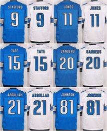 Wholesale Detroit Lions Matthew Stafford Barry Sanders Johnson Ezekiel Ansah Golden Tate III Ameer Abdullah elite jerseys