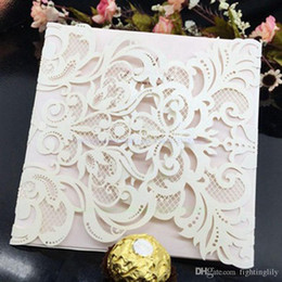 Creative Laser Hollow Carved Wedding Invitation 15X15cm High Quality 10pcs Greed Card Covers For Business Party invite greeting cards