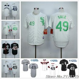2016 Majestic #49 Chris Sale Jersey, White Gray Black Baseball Jerseys top quality free shipping