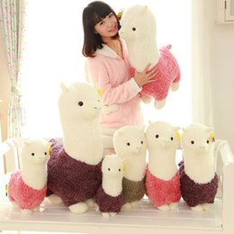Wholesale New quot cm Doll Alpaca Plush Toy Cute Soft Plush Alpacasso Baby Plush Stuffed Toys Animals Alpaca Gifts L549