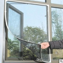 Canada DIY Flyscreen Bug Moustiquaire Porte Fenêtre Net Netting Mesh Screen Curtain Protector Flyscreen Worldwide Plus récent supplier diy door screen Offre