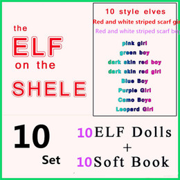2017 livres vidéo DHL 10 style de Noël Elf Doll Peluche jouets Elfes poupées de Noël et des livres souples sur l'étagère pour les enfants cadeau de Noël. promotion livres vidéo