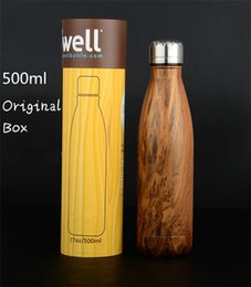 Wholesale Swell Large Stainless Steel water Bottle with SWELL BOX Vacuum Flask Cup S well Sports water Bottles ml Best quality