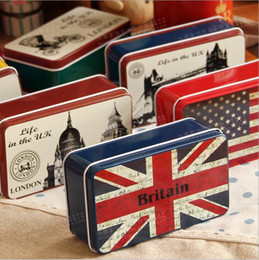 Rectangle big Metal colorful iron Tissue cube box Classical Container Storage Tin box mix order 10 pcs lot free shipping