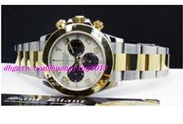 Descuento esfera blanca para hombre de los relojes automáticos 2016 Fábrica de proveedores de lujo reloj de pulsera 116523 Blanco Dial acero inoxidable automático hombres para hombre Relojes