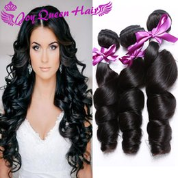 100% Brazilian human hair weave Unprocessed Peruvian Indian Malaysian hair extension Loose wave 3pcs lot hair extension Double weft