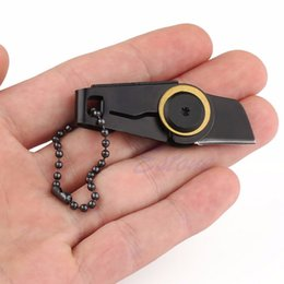 Wholesale EDC Gear Fold mini pocket tool portable keychain knife for zipper backpack key chain camp outdoor survival kit cuchillo
