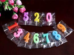 Digital birthday cake candles
