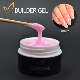 Wholesale Clear Pink Nude Color UV Builder Gel UV Gel Acrylic for Nail Art False Tips Extension ml Gel Lacquer Pick Color Nail Art