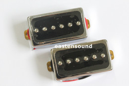 Wholesale N B set lp guitar pickups Chrome humbucker guitar pickups with iIvory pickup rings