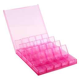 Clear Plastic Jewelry Box With 20 Small Pill Bead Storage Container Organizer