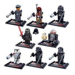 2017 l'action de guerre Gros-Favoris des enfants !! 8pcs / lot Mini Star Wars Figurine d'action blocs de construction jouets enfants Puzzle jouets éducatifs cadeaux d'anniversaire l'action de guerre à vendre