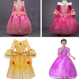 Canada Robes princesse enfants Robe robe de bal Robe longue robe plissée Aurora Belle Sophia Aurore Gauze Dentelle Belle au bois dormant HH-D01 sleeping beauty princess dresses on sale Offre