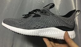 Wholesale Alpha bounce EM Running Shoes new Men Casual Training Sneakers Cheap Discount Running Alphabounce Alpha Bounce Tan PK Primeknit Boost