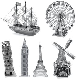 Wholesale Best Price D Metal Puzzle DIY Stainless Steel Assembly Building Car Tower Ship Kids Toys Educational Solid Puzzle New Year Gift