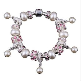 Fashion jewelry pearl beads beads diy beaded crystal bracelet alloy diamond jewelry Ladies bracelet