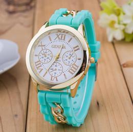 Newest Numerals Roma Geneva Stainless Steel Watch Silicone Chain Band Quartz watches Women Geneva Crystal Watches Gold Wristwatch