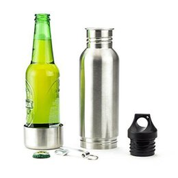 Wholesale High Quality Stainless Steel Bottle Keeper Armour Koozie Keeper Haven Bottle Armour Koozie Insulator With Bottle Opener Beer Holders F120