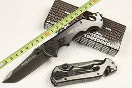Hot! SOG knife Rescue Knife 440C 56HRC Full Blade Knives folding Tactical knife free shipping