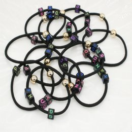 Jmyy Jewelry Fashion 2017 New English Letters Elastic Hair Rubber Bands Multicolor Hair Jewelry For Women Hair Accessories