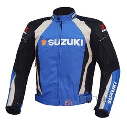 Wholesale NEW Oxford cloth racing jacket motorbike racing cool motor jacket classic Motorcycle Auto Racing SUZUKI JACKET M XL blue white black