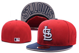 Wholesale HOT best quality SLC Fitted Hats Embroidered Team Logo SL Red Color Sport On Field Design Baseball Full Closed Caps Size men women Hats
