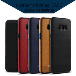 Descuento teléfonos celulares casos de cuero Para Samsung S8 Plus patrón de cuero Tpu Cell Phone Case Funda protectora completa de nuevo protector para Samsung S7 S6 borde con paquete al por menor