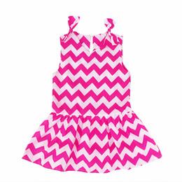Kseniya Kids Summer Children Kids Girl Cotton Soft Material Stripes Wavy Dress For Girls Kids Clothes Girl Party Princess Dress