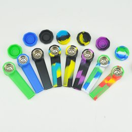 Wholesale Whole sale newly design best price for sell glass pipe silicone bongs made in China silicone pipe