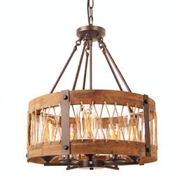 lmpara de madera redonda con la cortina de cristal clara lmpara antigua rstica del desvn
