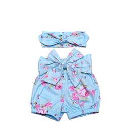 Wholesale New Product Kids Pom Pom Summer Toddler fashion Shorts Baby Floral Baby Shorts With Headband Set
