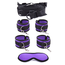 Sexy Adult Fun Games Eyemask Sex Bondage Under Bed Restraint Slave Foot Handcuffs Fetish Bondage Sex Toys Kits For Couple