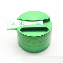 Wholesale New style layers herb grinder diameter mm Aluminium Alloy Rolling paper Grinder VS Phoenician Grinder OEM DHL Free