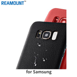 Fashion Style Leather Skin Soft TPU Black Color Shell Phone Case Cover for Samsung s8 s8 plus Protective Phone Case