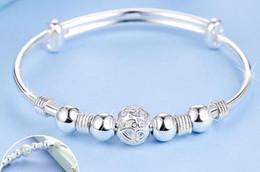 2017 women Nine transport bead bracelets bracelets Viballs Cupronickel silver plated snap bracelets 75