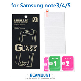 200 pcs For Samsung Galaxy Note 5 Tempered Glass Screen Protector Anti-Explosion Protective Film for Note 3 4 5