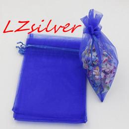 MIC 100pcs Royal Blue With Drawstring Organza Gift Bags 7x9cm 9x11cm etc. Wedding Party Christmas Favor Gift Bags