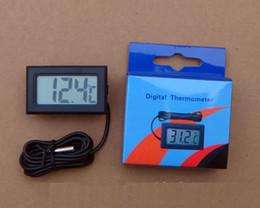Mini Digital LCD Probe Aquarium Fridge Freezer Thermometer Thermograph Temperature for Refrigerator -50~ 110 Degree FY-10 with box