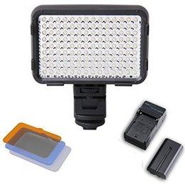 XT-126 LED lampe vidéo Lampe de photographie avec batterie 126leds pour tous les standard ISO 518-2006 Hot Shoe Caméras Canon Nikon à partir de conduit caméra lumière 126 fabricateur