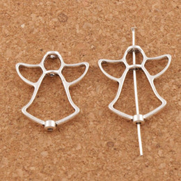 Alloy Open Angel Bead Frame Charm 200pcs lot 24.9x21.1mm Antique Silver Connector Pendants Jewelry DIY L750